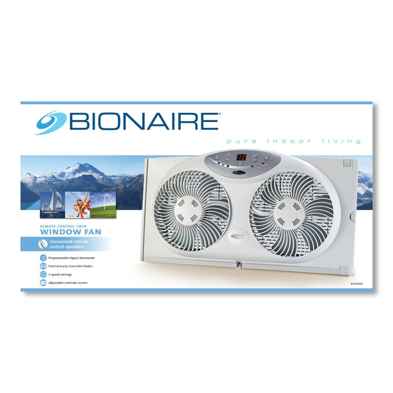 Bionaire BW2300 Remote Control Twin Window Fan with ...