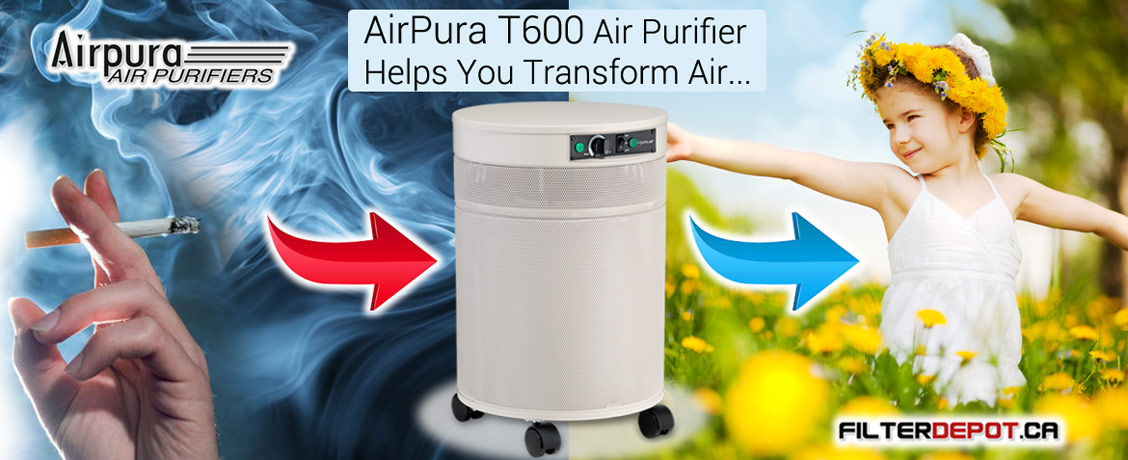 AirPura T600 Tobacco Smoke Air Purifier at FilterDepot.ca