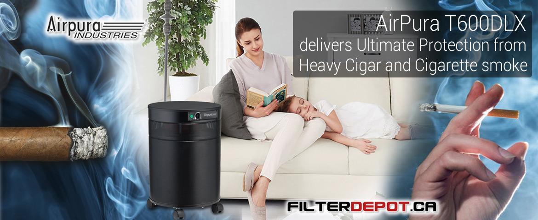 AirPura T600DLX Heavy Duty Tobacco Smoke Air Purifier at FilterDepot.ca