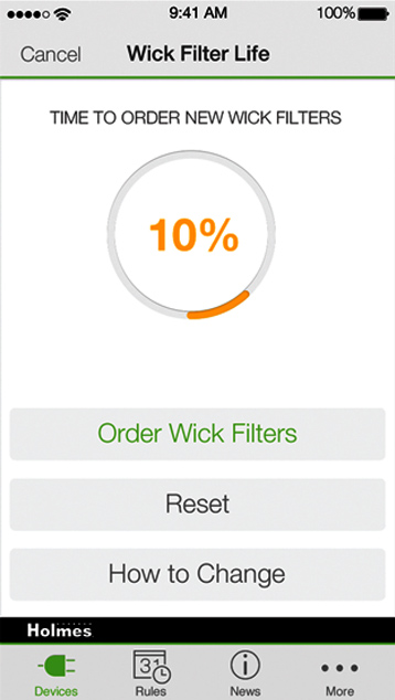 Holmes WeMo Filter CHange Reminder