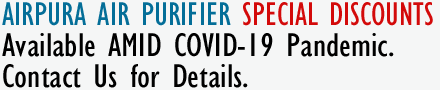 Airpura Air Purifier COVID19 Special Discounts