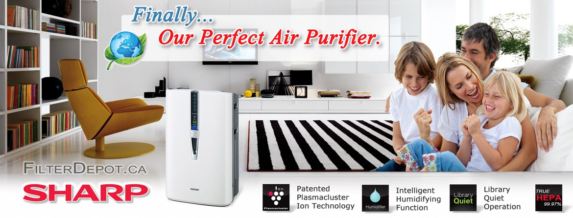 Sharp Plasmacluster Air Purifiers at FilterDepot.ca